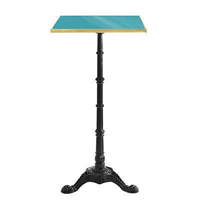 Ardamez - Mange debout-Ardamez-Mange debout �maill� / table haute / turquoise