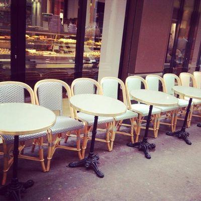 Ardamez - Table bistrot-Ardamez-Table de bistrot émaillée réséda / laiton / fonte