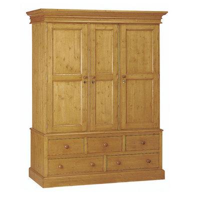 Interior's - Armoire � portes battantes-Interior's-Armoire 3 portes 5 tiroirs