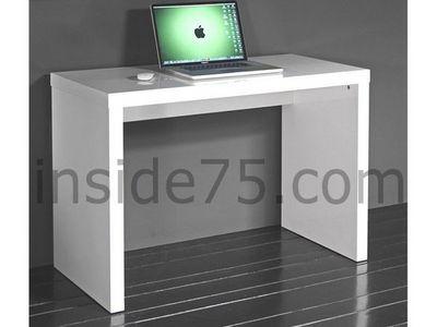WHITE LABEL - Bureau-WHITE LABEL-CUBIC bureau laqué blanc brillant.