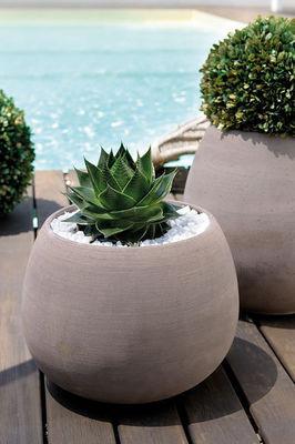 DEROMA France - Pot de jardin-DEROMA France-Vaso Goccia Grigio