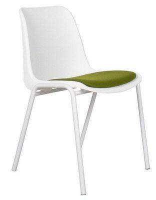 ZUIVER - Chaise-ZUIVER-Chaise Zuiver BACK TO GYM blanche et verte
