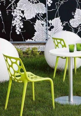 Calligaris - Chaise de jardin-Calligaris-Chaise empilable HERO de CALLIGARIS verte claire