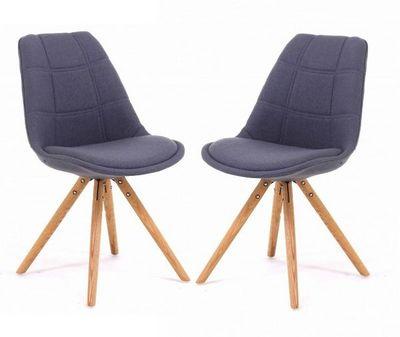 ID'CLIK - Chaise-ID'CLIK-Chaise tissu et bois Sweet (Lot de 2)