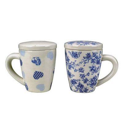 Interior's - Mug-Interior's-Coffret de 4 mugs Gourmandise avec couvercle