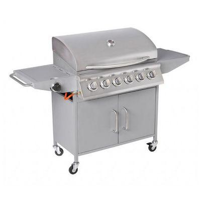 WHITE LABEL - Barbecue au gaz-WHITE LABEL-Barbecue � gaz 6 br�leurs avec thermom�tre
