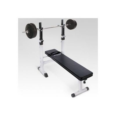 WHITE LABEL - Banc de musculation-WHITE LABEL-Banc de musculation avec set haltère 40 kg