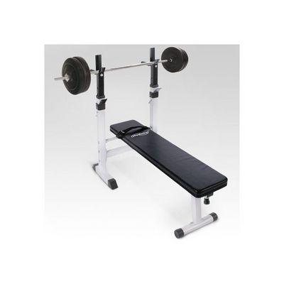 WHITE LABEL - Banc de musculation-WHITE LABEL-Banc de musculation avec set haltère 40 kg