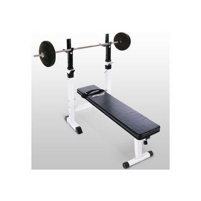 WHITE LABEL - Banc de musculation-WHITE LABEL-Banc de musculation avec set haltère 20 kg