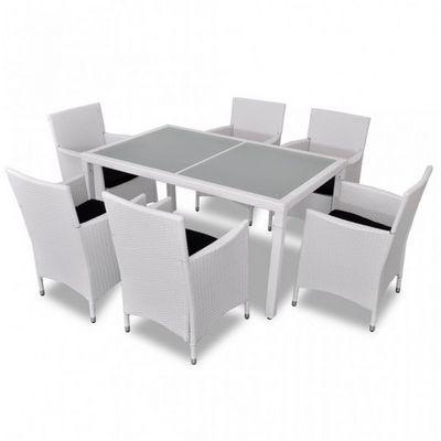 WHITE LABEL - Salle � manger de jardin-WHITE LABEL-Salon de jardin avec table + 6 chaises