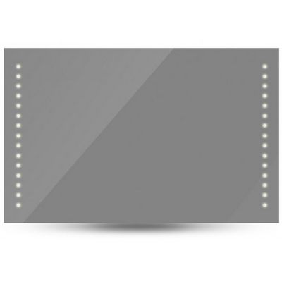 WHITE LABEL - Miroir lumineux-WHITE LABEL-Miroir lumineux led salle de bains 100x60