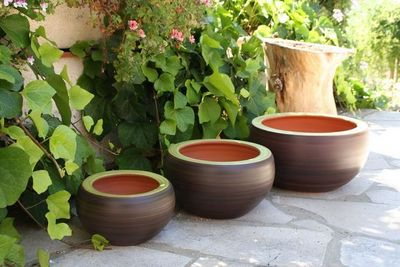 Les Poteries Clair de Terre - Vasque de jardin-Les Poteries Clair de Terre-Ginkgo