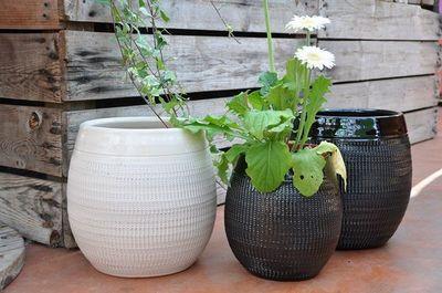 Les Poteries Clair de Terre - Vase à fleurs-Les Poteries Clair de Terre-Inca
