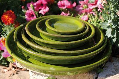 Les Poteries Clair de Terre - Dessous de pot de jardin-Les Poteries Clair de Terre-Mousse citron_