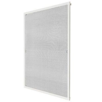 WHITE LABEL - Moustiquaire de fenêtre-WHITE LABEL-Moustiquaire pour fenêtre cadre fixe en aluminium 120x140 cm blanc