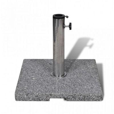 WHITE LABEL - Pied de parasol-WHITE LABEL-Pied de parasol 20kg 3 adapteurs inclus
