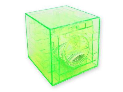 WHITE LABEL - Tirelire-WHITE LABEL-Tirelire casse-tête labyrinthe vert cagnotte enfan