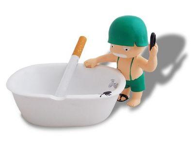 WHITE LABEL - Cendrier-WHITE LABEL-Petit soldat et sa baignoire cendrier accessoire f
