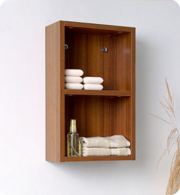UsiRama.com - Etagère de salle de bains-UsiRama.com-Colonne de salle de bain 50cm en couleur bois