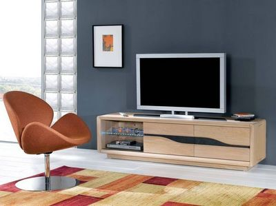 Ateliers De Langres - Meuble tv hi fi-Ateliers De Langres-CERAM - meuble TV 2 portes