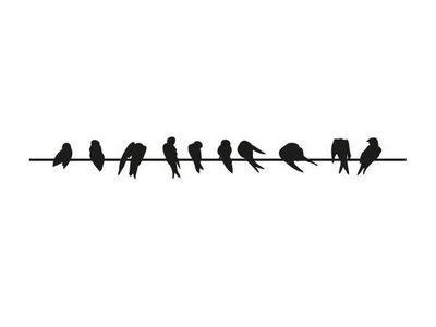 WHITE LABEL - Sticker-WHITE LABEL-Sticker Mural Oiseaux 01