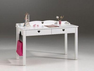 WHITE LABEL - Bureau-WHITE LABEL-Bureau AMORI blanc 2 tiroirs