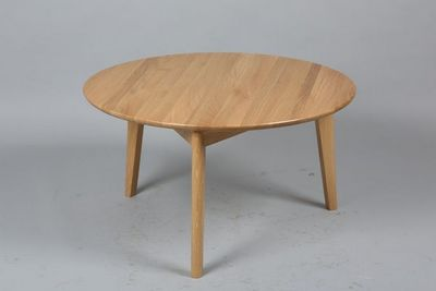 WHITE LABEL - Table basse ronde-WHITE LABEL-Table basse ronde OLGA en chêne massif