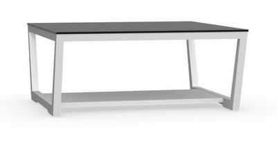 Calligaris - Table basse rectangulaire-Calligaris-Table basse ELEMENT de CALLIGARIS blanche avec pla
