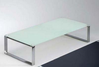 WHITE LABEL - Table basse rectangulaire-WHITE LABEL-Table basse MIAMI design en verre blanc