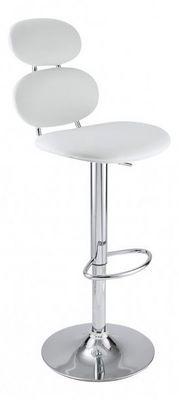 ID'CLIK - Chaise haute de bar-ID'CLIK-Chaise de bar Gabrielle Blanc