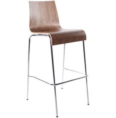 KOKOON DESIGN - Chaise haute de bar-KOKOON DESIGN-Tabouret de bar empilable Cobe Noyer