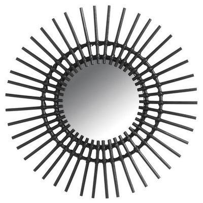 Aubry-Gaspard - Miroir-Aubry-Gaspard-Miroir déco Vintage rotin noir