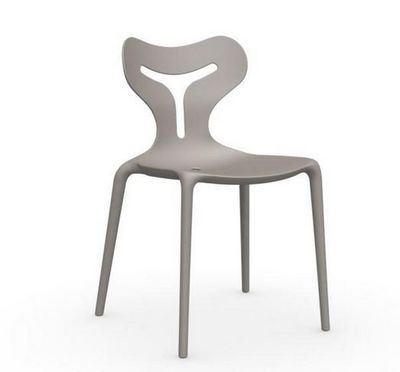 Calligaris - Chaise-Calligaris-Chaise empilable AREA 51 de CALLIGARIS grège