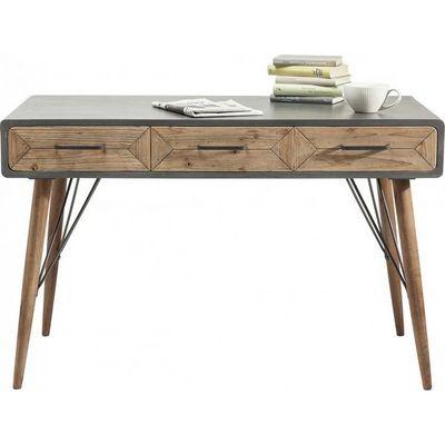 Kare Design - Bureau-Kare Design-Bureau en bois X Factory 3 tiroirs