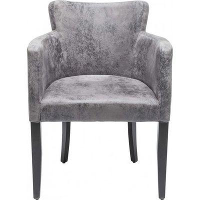 Kare Design - Chaise-Kare Design-Chaise avec accoudoirs MOD grise