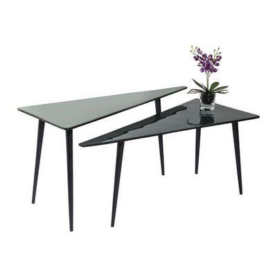 Kare Design - Table basse forme originale-Kare Design-Tables basses La Costa Triangle 2/set