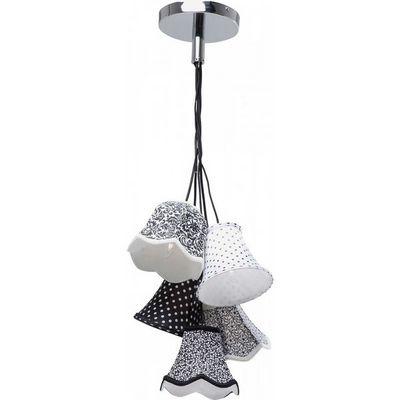 Kare Design - Suspension-Kare Design-Suspension Saloon Ornament Noir & Blanc 5