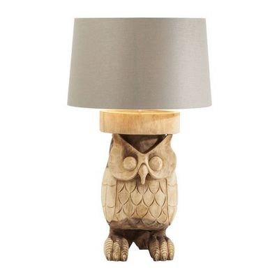 Kare Design - Lampe � poser-Kare Design-Lampe de table Owl Nature