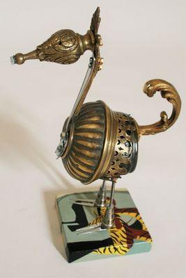ARTBOULIET - Sculpture animalière-ARTBOULIET-Le génie de la lampe