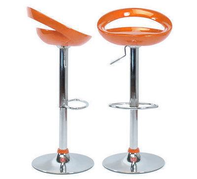 Miliboo - Tabouret de bar r�glable-Miliboo-Lot de 2 tabourets COMET Orange