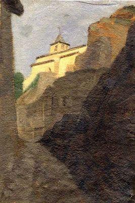 Galerie Emeric Hahn - Huile sur toile et huile sur panneau-Galerie Emeric Hahn-Rue à Malleval