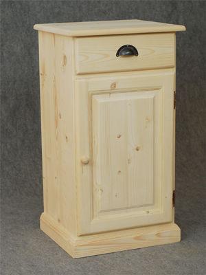 BARCLER - Meuble confiturier-BARCLER-Confiturier en bois brut 1 tiroir 1 porte 45x83x40