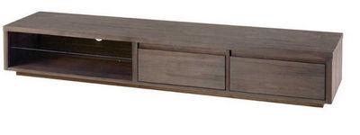 ZAGO - Meuble tv hi fi-ZAGO-Long meuble tv en teck teinte
