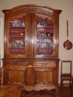 Antiquités La Botte Dorée - Buffet deux corps-Antiquités La Botte Dorée-Buffet 2 corps Louis XV