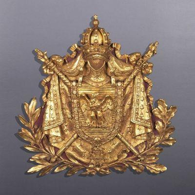 Galerie de Souzy - Lambris bois-Galerie de Souzy-Panneau aux armes de Napoléon Ier