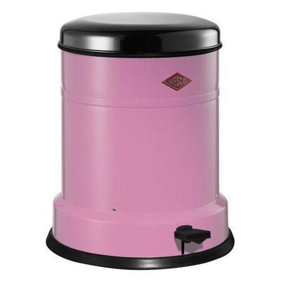 Wesco - Poubelle de salle de bains-Wesco-Baseboy 12L classic rose et inox brillant
