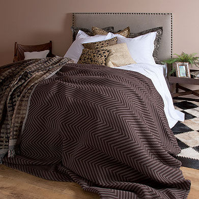 Zara Home - Couvre-lit-Zara Home-Couvre-Lit et Housse de Coussin Chevron