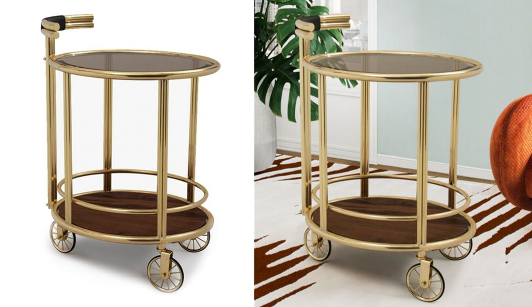 ESSENTIAL HOME Table on wheels Chariots and tables on wheels Tables and Misc.  |