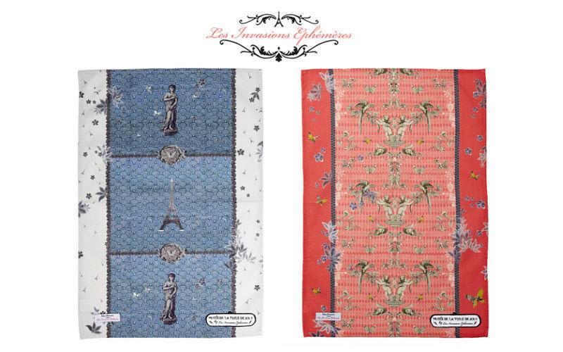 Les Invasions Ephemeres Tea towel Kitchen linen Household Linen  |