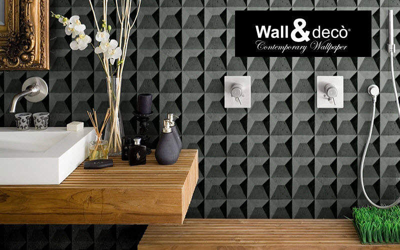 WALL & DECO Bathroom wallpaper Wallpaper Walls & Ceilings Bathroom | Design Contemporary